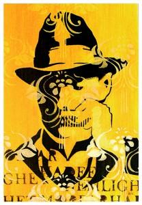gul man i hatt